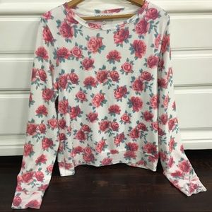 Wildfox Lightweight Floral pullover Sweater